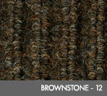 Andersen [870] Cobblestone™ Indoor Wiper/Finishing Floor Mat - Poly Face - Vinyl Backing - Brownstone - 12