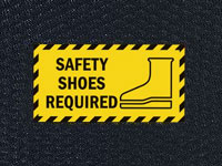 Andersen Hog Heaven Safety Shoes Required Sign Mat
