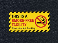 Andersen Hog Heaven Smoke Free Facility Sign Mat