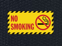 Andersen Hog Heaven No Smoking Sign Mat