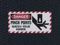 Andersen Hog Heaven Danger Pinch Points Watch Hands Sign Mat