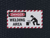 Andersen Hog Heaven Danger Welding Area Sign Mat