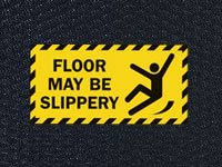 Hog Heaven Floor May Be Slippery Sign Mat