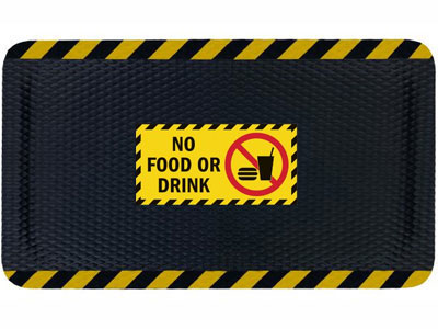Hog Heaven No Food or Drink Sign Mat