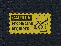 Hog Heaven Respirator Required Message Sign Mat