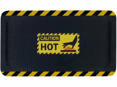 Hog Heaven Hot Caution Sign Mat