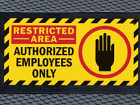 Superscrape Restricted Area Graphic Message Sign Mat