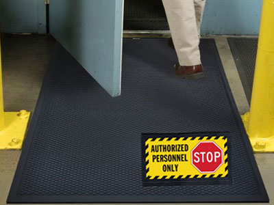 Andersen Superscrape Authorized Personnel Message Sign Mat
