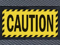 Superscrape Caution Message Sign Mat