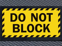 Superscrape Do Not Block Safety Message Sign Mat