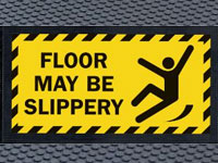 Andersen Superscrape Floor May Be Slippery Safety Message Sign Mat