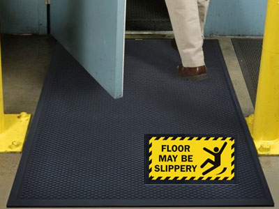 Superscrape Floor May Be Slippery Safety Message Sign Mat