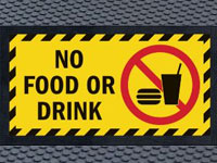 Andersen Superscrape No Food or Drink Safety Message Sign Mat
