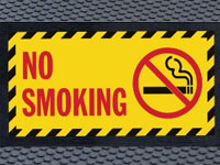Super Scrape Sign Mat - No Smoking - 3' x 5' or 4' x 6' Mats