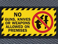 Superscrape No Weapons Message Sign Mat