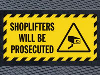 Andersen Superscrape Shoplifters Prosecuted Message Graphic Sign Mat