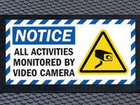 Super Scrape Sign Mat - Video Monitoring - 3' x 5' or 4' x 6' Mats