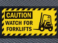 Superscrape Watch For Forklifts Sign Mat