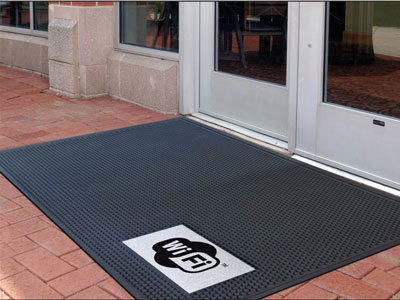 Super Scrape Sign Mat - WiFi - 3' x 5' or 4' x 6' Mats