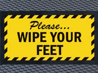 Andersen Wipe Your Feet Sign Mat