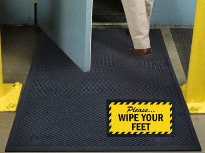 Superscrape Wipe Your Feet Sign Mat Floormatshop Com