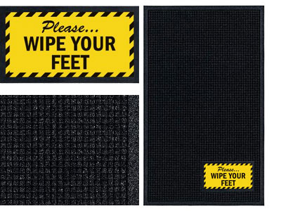 Wipe Your Feet Sign Mat Wiper Scraper Floormatshop Com