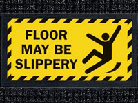 Floor Slippery - Waterhog Message Mat AM-53