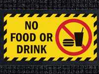 No Food or Drink - Waterhog Message Mat AM-54