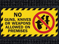 No Guns - Waterhog Message Mat AM-56-NOGUNS