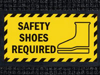 Safety Shoes Required Sign Mat - Wiper/Scraper