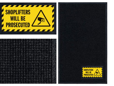 Shop Lifters Will Be Prosecuted Sign Mat - Wiper/Scraper