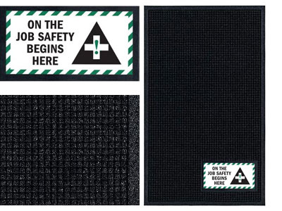 On the Job Safety Sign Mat - Wiper/Scraper