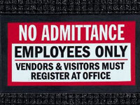 No Admittance - Waterhog Message Mat AM-67