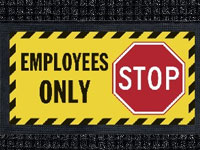 Employees Only - Waterhog Message Mat AM-68