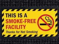 Smoke-Free Facility Waterhog Message Mat AM-70SFF