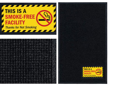 Notice Smoke-Free Facility Sign Mat - Wiper/Scraper
