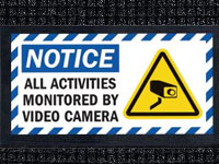 Video Camera Monitoring Waterhog Message Mat AM-71