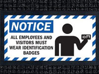 ID Badges - Waterhog Message Mat AM-72