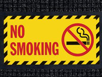 No Smoking - Waterhog Message Mat AM-73NS