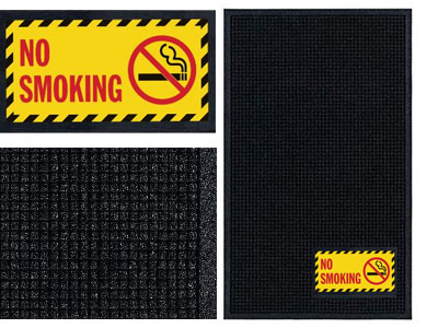 No Smoking Sign Mat - Wiper/Scraper