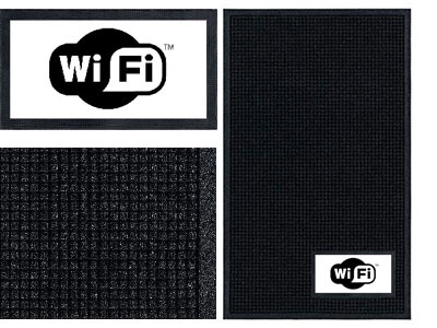 Wi-Fi Sign Mat  - Wiper/Scraper