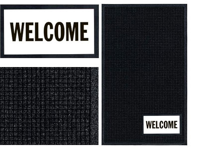 Welcome Sign Mat  - Wiper/Scraper