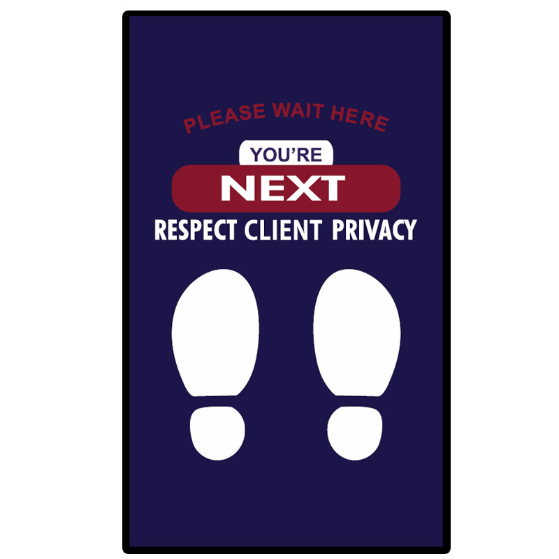 Client Privacy Wait Here Mat GM-CP190