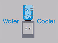 Water Cooler Message Mat - Grey - 2x3 GM-00013177