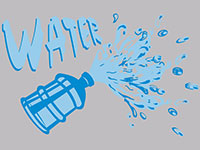 Water Cooler Splash Message Mat - Grey - 2x3 GM-00013176