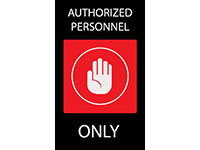 Authorized Personnel Safety Message Floor Mat
