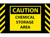Safety Message Mat - Caution Chemical Storage NT-194SCC