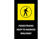 Safety Message Mat - Pedestrians Keep to Walkway NT-194SPK