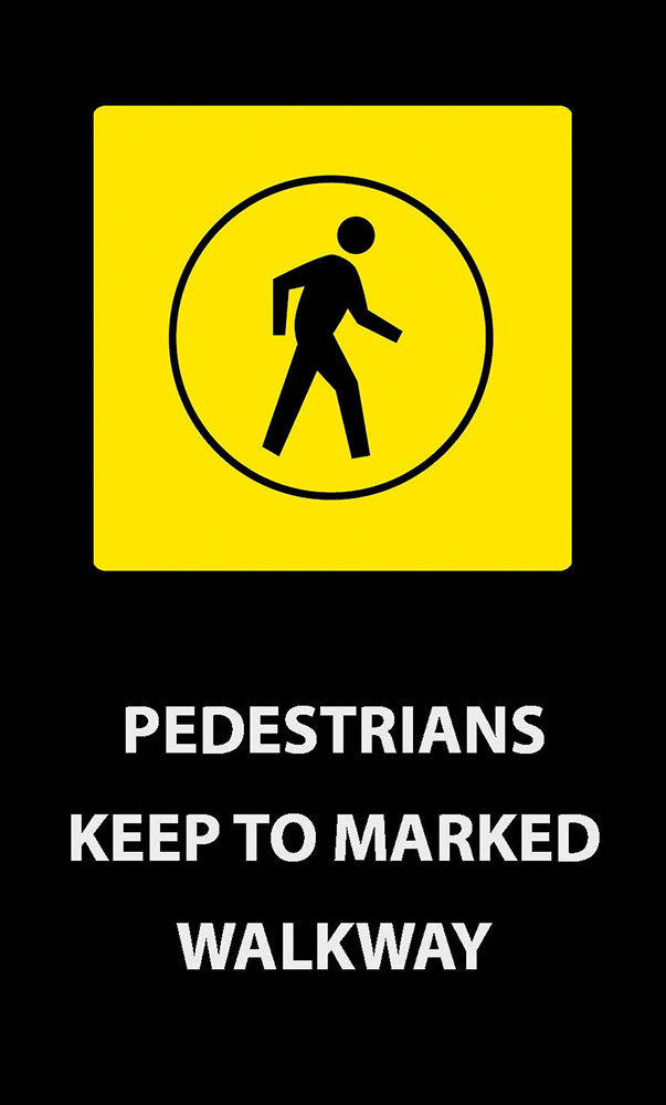 Safety Message Mat - Pedestrians Keep to Walkway