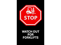 Stop Watch Forklifts Safety Message Mat